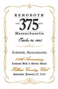 375th Anniversary Ball Program Cover