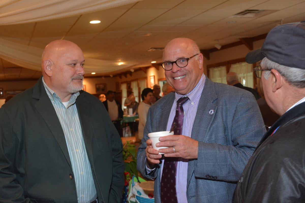 Steve Howitt with Rehoboth Residents