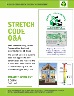 Stretch Code Q & A Event at Goff Hall on Tuesday, April 30 at 7pm
